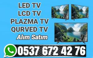 İkinci el led tv lcd plazma tv eşya Qurved tv alan yerler
